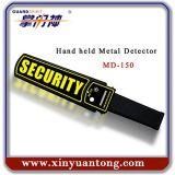 Detector de metales de mano de la varita de la seguridad aeroportuaria del explorador estupendo de la carrocería MD150