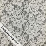 Tela de nylon do laço do algodão da pétala da flor para o vestido da menina