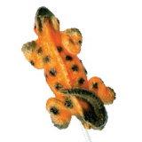 Конфета шипучки ящерицы украшенная цветом