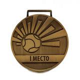 Medalha do futebol/futebol da lembrança no bronze antigo