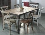 Tabela de jantar recicl do olmo de Recalimed do vintage mobília de madeira industrial