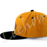 Da forma nova da era do bordado do Snapback tampão liso da viseira