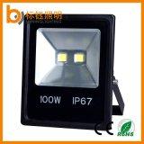 PANNOCCHIA sottile 100W della lampada esterna economizzatrice d'energia del LED illuminazione dell'inondazione dell'alluminio LED da 180 gradi