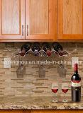 Estante y cristalería del vino de 6 botellas bajo sostenedor de la cabina