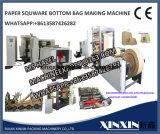 Bolsa de papel cuadrado de la ropa que hace la máquina, bolso de compras de papel que hace la máquina