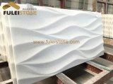 Marmo bianco di cristallo che intaglia le mattonelle
