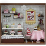2017 Top Kids Popular Children Fashion DIY Wooden Doll House