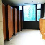 Wood Color High Pressure Laminate Toilet Cubicle Toilet Partition