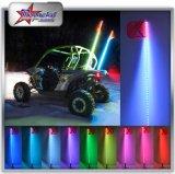 ATV UTV Sxs Rzr fuori strada 4/5/6 di piede di RGB di colore 1.2m/1.5m/1.8m LED di versione rapida 12V della bandierina di palo dell'indicatore luminoso di sicurezza della frusta dell'indicatore luminoso d'avvertimento dell'antenna per il camion della barca