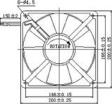 вентилятор AC 115/220/380V 200X200X60mm осевой с утверждениями