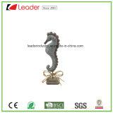 Het Standbeeld van Seahorse van Polyresin met een Tribune van de Basis voor de Decoratie van het Huis en PromotieGiften
