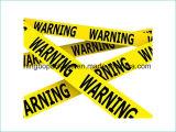 Rotes und gelbes Vorsicht-Band für Vorsichtsmaßnahme