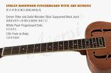 Preiswertes rotes Art-Blau-Plättchen-Messingkarosserien-Resonator-Gitarre des Cupper Rost-O
