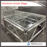 Etapa móvil de la boda de la etapa del marco de aluminio con la plataforma de acrílico