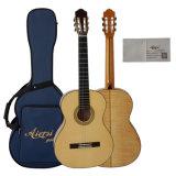 Habilidade espanhola Handmade toda a guitarra clássica contínua
