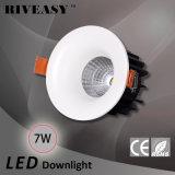 luz de techo de fundición a presión a troquel ligera de la MAZORCA LED del punto de 7W 01 LED Downlight LED