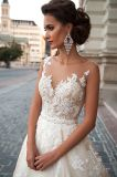 Linha Tulle Multilayer do projeto Princess/A de Jeneva fora dos vestidos de casamento BRITÂNICOS brancos