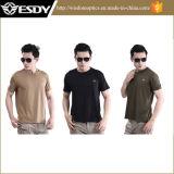T-shirt rond de séchage rapide de chemise de circuit de collier de Mens extérieur d'été