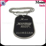 Shiny Silver Custom High Polished Metal Dog Tag Abridor de garrafas Colar