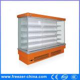 Refrigerador aberto do indicador dos vegetais do encaixe usado na loja