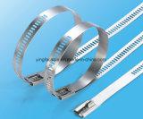 Серебряный храповик связи кабеля нержавеющей стали фиксируя связи застежка-молнии