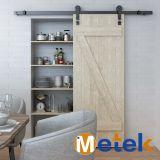 Alto estándar interiores de madera de puerta de granero de hardware