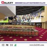 Tablilla de anuncios fija de interior de alta resolución de LED P1.5625/P1.667/P1.923 para la etapa de la TV, vigilando el centro