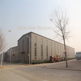 Gruppo di lavoro di costruzione della struttura d'acciaio della fabbrica in Libia