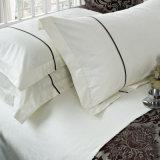 Fundamento ajustado bordado liso branco luxuoso de /Embroidery do fundamento para o hotel (WS-2016048)