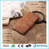 Ретро кожаный телефон галактики Samsung аргументы за Flip бумажника
