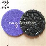 돌 콘크리트 (Dia를 위한 크롬 28 지면 닦는 패드: 100mm, T: 6.0mm)