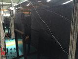 Черные естественные каменные слябы Nero Marquina мраморный для плиток настила/Countertop