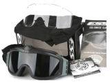 Dos vidros Anti-Fog táticos do ventilador de Airsoft óculos de proteção de segurança militares Ess