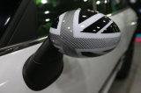 2014 [نو مودل] مصغّرة [هردتوب] بيضاء [أونيون جك] أسلوب [أبس] بلاستيكيّة [أوف] يحمى إستبدال جانب مرآة تغطية لأنّ صانع برميل مصغّرة [ف56]