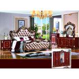 Кровать спальни для античной домашней мебели и мебели гостиницы (W815B)