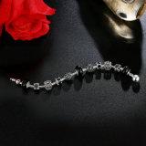 Bracelete de charme na moda e pérolas de Murano preto da Coroa