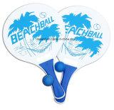 Больш для игры затвора тенниса пляжа потехи лета ракетки и центра событий деревянной установленной