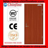 Porte coupe-feu en bois avec du CE (CF-F019)