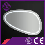 Jnh266 Irregular Cosmetic Magnifying Make Up Mirror com luz LED