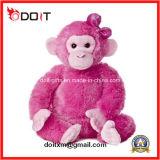 El bebé embroma la muñeca animal del juguete del mono del perro del gato de la felpa peluda