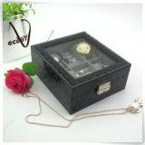 Cadres de montre Pocket de cru de luxe fabriqué à la main en cuir d'unité centrale seuls