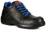 Ровные кожаный ботинки работника безопасности Outsole впрыски PU черноты