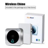 Дверной звонок камеры Vuebell WiFi HD видео-, при обнаружение движения, двухстороннее аудиоий, и беспроволочный включенный перезвон дверного звонока