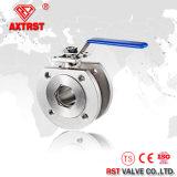 1PC 304 flangeou válvula de esfera inoxidável da bolacha com