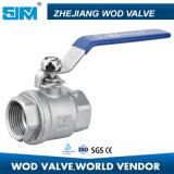 robinet à tournant sphérique de l'acier inoxydable 2PC Q11f 1000wog/2000wog