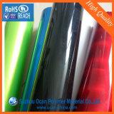Roulis rigide 0.5 de feuille de PVC de rouge transparent profondément, un un roulis rigide latéral lustré latéral de feuille de PVC d'Embossy pour l'enveloppe de tambour
