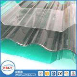 Hoja acanalada cristalina del policarbonato de los mejores del precio perfiles antis de la gota varios