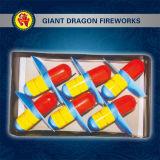 2대의 색깔 우주선 헬기 Fireworks
