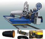 HDPE/PPは螺線形の巻上げの管の生産ラインの側面図を描く