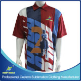 Camisa de polo superior dos uniformes da equipe do bowling do Sublimation cheio Custom Designed com logotipos do patrocinador